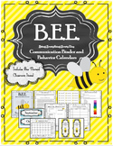 2018-2019 Bee Themed Communication Binder and Behavior Clip Chart and Calendars