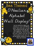 Bee Themed D'Nealian Alphabet Wall Display