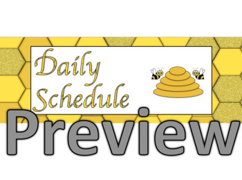 Bee Theme Daily Schedule- EDITABLE