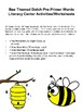 Bee Themed Dolch Pre-Primer Sight Words Literacy Center Activities/Worksheets