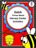 Bee Themed Dolch Primer Sight Words Literacy Center Activi