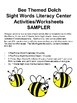 Bee Themed Dolch Sight Words Literacy Center Activities/Worksheets SAMPLER