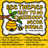 Classroom Theme Decor Bundle: Bee Themed