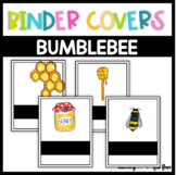 Bee Themed Editable Binder Covers