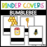 Bee Themed Editable Binder Covers