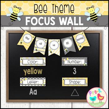 Bee Themed Focus Wall