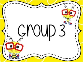 Bee Themed Group/Table Signs