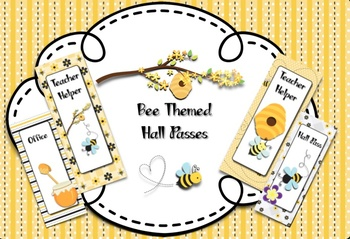 Bee Themed Hall Passes