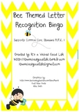 Bee Themed Letter Recognition Bingo