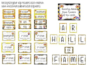 Bee Themed Library/Media Center Pack {with EDITABLE passes and signs}