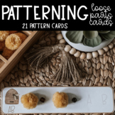 Bee Themed Loose Parts Pattern Cards Math Activity Kindergarten and Grade 1