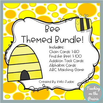 Bee Themed Math and Reading Bundle