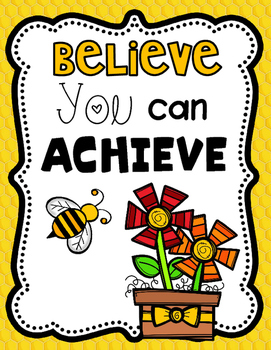 Bee Themed Motivational Posters
