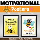 Bee Themed Classroom Posters for Back to School Bulletin Boards
