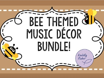 Bee Themed Music Decor Bundle