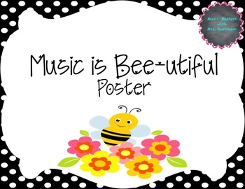 Bee Themed Music Poster