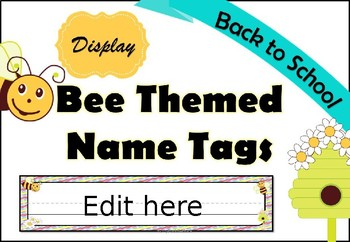 Bee Themed Name Tags