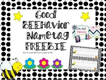 Bee Themed Nametags