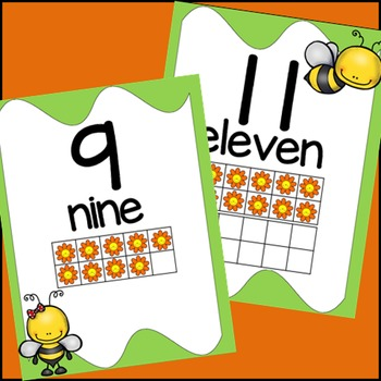Bee Themed, Numbers Posters, Classroom Decor, Numbers 1-20
