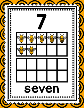 Bee Themed Number Posters