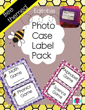 Bee Themed Photo Case Labels Pack
