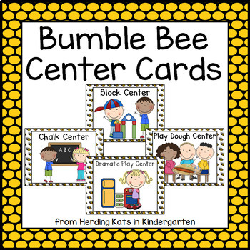 Bee Themed  Pocket Chart  Center Cards