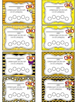Bee Themed Punch Card Pack