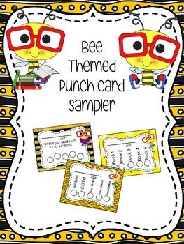 Bee Themed Punch Card Sampler