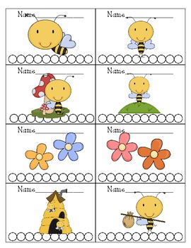 Bee Themed Punch Cards