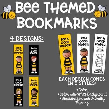 Bee Themed Reading Bookmarks Melonheadz Clip Art Ink Friendly