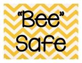Bee Themed Rules - Yellow Chevron
