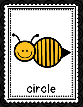 Bee Themed Shape Posters