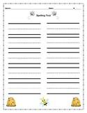 Bee Themed Spelling Test