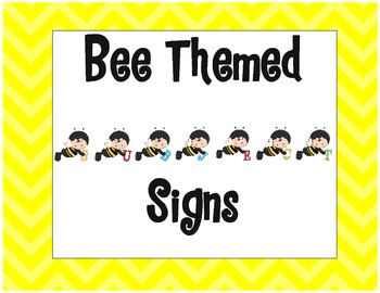 Bee Themed Subject Signs