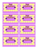 Bee Themed Super Speller Punch Cards