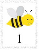Bee Themed Table Numbers or Labels