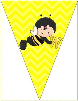Bee Themed Welcome Pendant