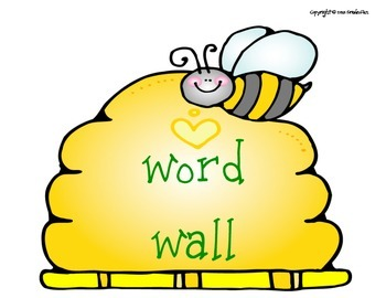 Bee Themed Word Wall