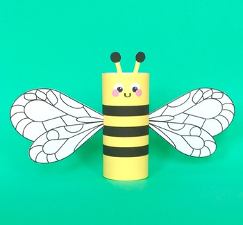 Bee Toilet Tube Craft
