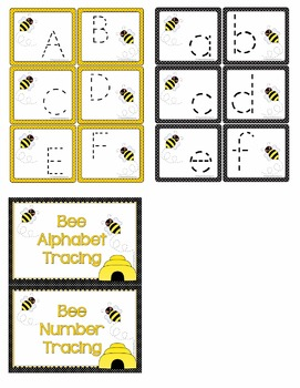 Bee Tracing Activities - Learning Centers