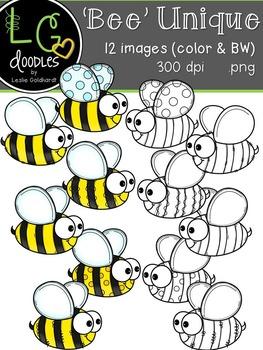 """""""Bee"""" Unique Clip Art ~ by LG Doodles"""