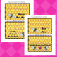 Bee Valentine's Day Party Treat Bag Toppers - Valentine's Party Activities