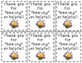 Bee Volunteer Thank You Tags