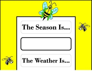 Bee Weather Chart! Bee Bulletin Board! Bee Theme! Bee Them