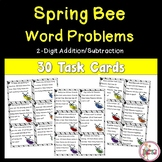 Bee Word Problem Task Cards using 2-Digit Addition and Subtraction