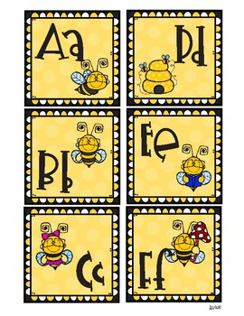 Bee Word Wall Letter Header Cards