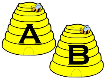 Bee Word Wall Letters