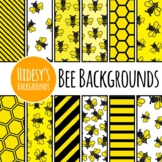 Bee Yellow and Black Digital Papers / Patterns / Backgrounds Clip Art Commercial