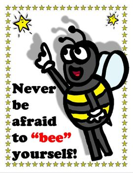 Bee Poster: Bee Yourself Poster for Students - Superstars Theme - King Virtue