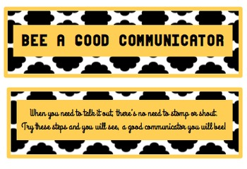 Bee a Good Communicator - Poster, Bulletin Board Set or Minilesson